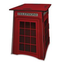 Banco Mesa Centro Dobrável Cabine Telefônica De Londres Mdf