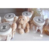 Recuerdo Miel Mini Tarro Palita Vintage Bautizo Baby Shower
