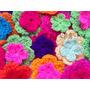 Flores Dobles Tejidas Crochet Pack X 50 Ideal Deco Souvenirs