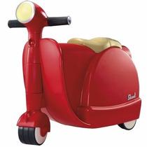 Maleta Scooter Infantil Skoot Color Rojo Estilo Vintage