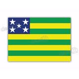 Adesivo Bandeira Goias Resinado 4x6cm Bd26