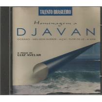 Talento Brasileiro - Cd Homenagem A Djavan - Piano Luiz
