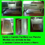 Vendo O Cambio Por S3-j1 Parrillera-plancha A Gas Y A Carbon