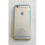 Capinha Capa Case Silicone Iphone 4/4s Neon Azul