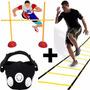 Kit Fitness Futbol Mascara + Escalera Coordinacion + Valla