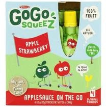 Gogo Squeez Puré De Manzana En El Ir, Apple Fresa, Bolsas 3