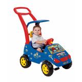 Carrinho De Passeio Infantil Roller Baby Azul Menino + Frete