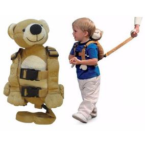Mochila Coleira Segurança Guia Infantil Ursinho Gold Bug
