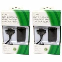 Video Game Xbox 360 Carregador P/ Controle 24.000mah 2 Peças