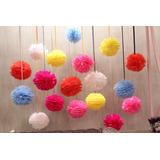 Balão Pompom Papel Seda Decoração 10 Cm Miniatura