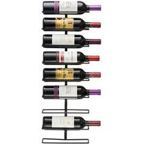 Montaje De La Pared Del Vino 9-botellero Negro