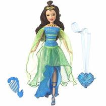Boneca Barbie Princesa Do Castelo De Diamante Musa Azul -...