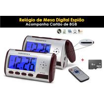 Relógio Espião Micro Câmera Espiã Escondida + 8gb - Mesa
