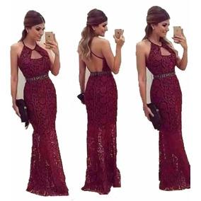 Vestido Feminino Renda Longo Festa Fica #vl6 Maravilhoso