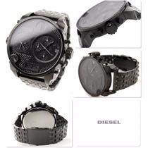 Relógio Diesel 4 Times Digital Preto Dz7214 + Envio Grátis