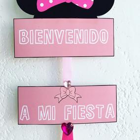 Cartel De Bienvenida Minnie Mouse Cumpleaños Infantiles
