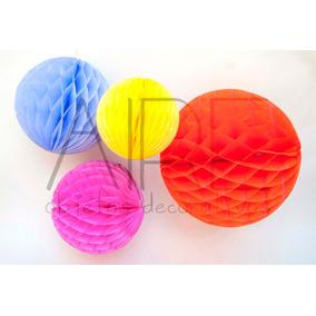 Balon Pompones Papel Panal Abeja Grande 33 Cm Varios Colores