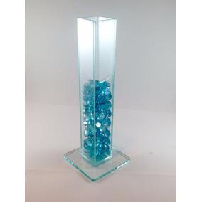 Vaso Solitário 30 Cm Vidro 3mm Transparente - Espelho