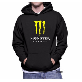 Moletom Monster Masculino E Feminino Blusa De Frio Canguru