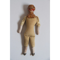 Muñeca Mexicana De Barro Y Tela Antigua