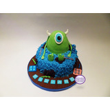 Torta Monsters Inc - Ideal Para Cumpleaños Infantiles