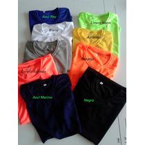Franelas Dry Fit Microperforado (atlética) Varios Colores