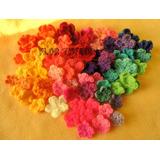 Florcitas Flores Tejidas Al Crochet Pack X 100 Deco Souvenir