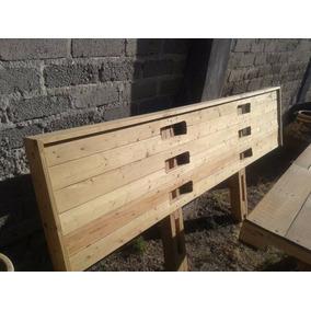 Base de cama de madera tarima en mercado libre m xico for Base de cama matrimonial con tarimas