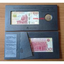 Moneda $ 20 Billete 100 Centenario Constitucion Set Banxico