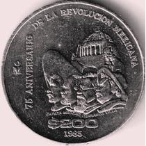 Moneda Conmemorativa 75 Aniv. Revlon,$ 200 Niquel A $200 Op4