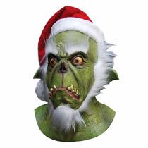 Máscara De Látex De Green Santa, Máscara De Grinch, Grinch