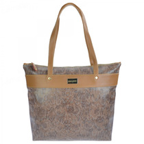 Bolsa Feminina Monica Sanches 2937b Mamba Serpente/ Bronze