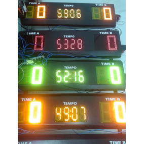 Placar Eletrônico Futebol Society Placar Esportivo Cronometr