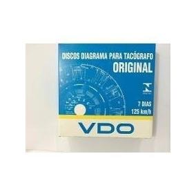 Disco De Tacógrafo Vdo Semanal 125km/h 7dias