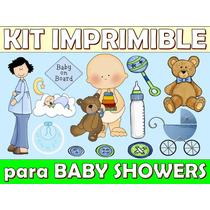 Kit Imprimible Baby Showers Nacimientos Varones Nenas