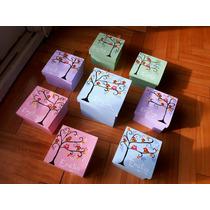 Cajas Fibrofácil Souvenir Decoración Pintadas A Mano