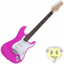 Guitarra Strato Giannini G 100 Rosa - Oferta Loja Kadu Som