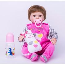Bebê Reborn Barato Boneca Reborn Menina Silicone Fretegrátis