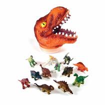 Juguete Dinosaurio Grande Cabeza Con 12 Dinosaurios Niño Rex