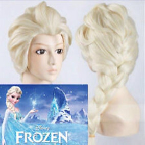 Peluca Adulto Show Princesas Disney Elsa, Anna, Bella, Froze