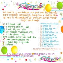 Arts Fiesta Desechables Infantiles Dif Personajes Mantel Let