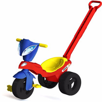 Triciclo Com Empurrador Com Baú Race Xalingo