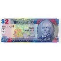 Grr-billete De Barbados 2 Dollars 2007