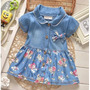 Vestido Jeans Infantil - A Pronta Entrega