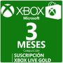 Membresía 3 Meses Live Gold Xbox One Y 360 En Computlán