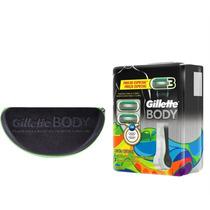 Aparelho Gillette Body C/ 3 Cargas + Porta Óculos