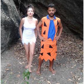 Fantasia Fred Ou Vilma Adulto Completa Carnaval P Entrega