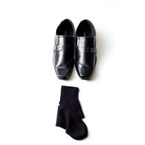Kit Masculino Sapato Em Couro Ecológico Preto + Meia Social