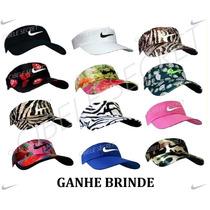 Viseira Boné Sombreiro Feminino Masculino Modelo Nike Color