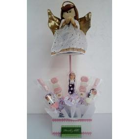 Centro De Mesa Angel Con Brochetas Royal Icing